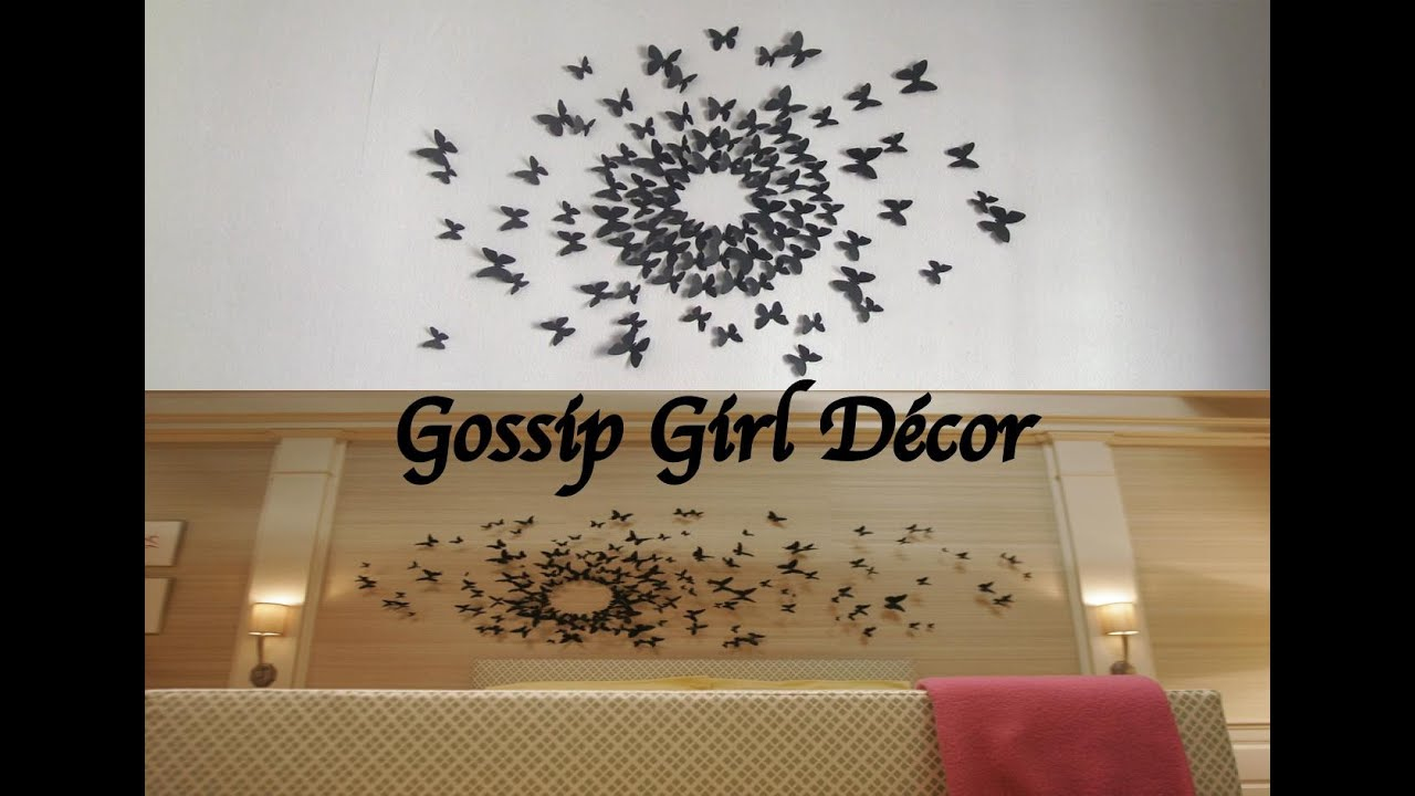 d co papillon chambre gossip girl. Black Bedroom Furniture Sets. Home Design Ideas