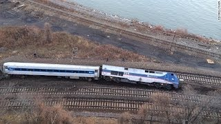 GRAPGIC FOOTAGE Metro North Train Derails in Bronx Area of New York City 2 Deaths Reported