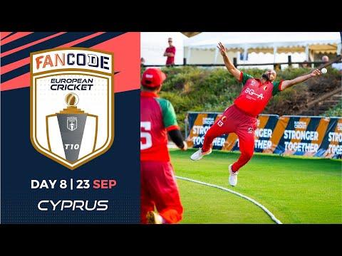 🔴 FanCode European Cricket T10 Cyprus,  Limassol | Day 8 T10 Live Cricket