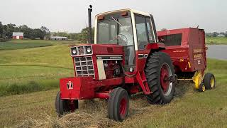 ih 1086 baling w nh 648 baler part 2