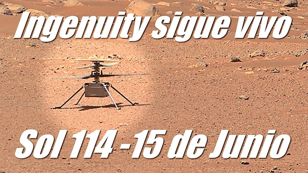 Ingenuity sigue vivo - Nueva imágen de Perseverance en Marte lo confirma