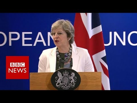 "Brexit Negotiations: Theresa May ""ambitious and positive"" - BBC News"