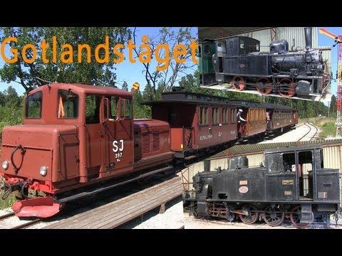 Tåg på Gotland Gotlandståget GHJ Trans in Gotland Sweden 2013
