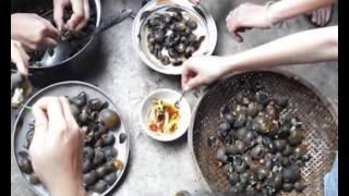 Ốc lác treo giàn bếp - Đặc sản miền sông nước.