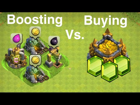 Clash Of Clans - Boosting Vs. Buying