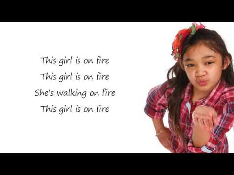 AngelicaHale - Girl On Fire / Lyrics (America's Got Talent)