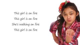 Angelica Hale - Girl On Fire Lyrics (America&#39s Got Talent)