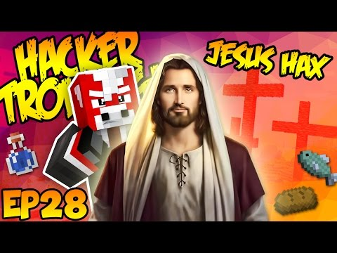 CRUCIFYING A JESUS HACKER! (Minecraft Trolling Hackers EP28)