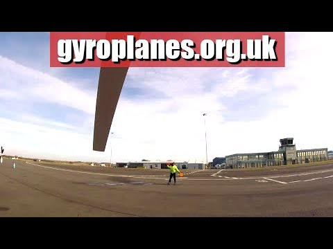 RT comms with ATC into Oxford Airport in a Gyrocopter/Gyroplane