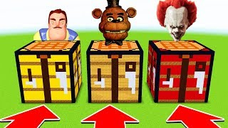 Minecraft: DO NOT CHOOSE THE WRONG CRAFTING TABLE (FNAF,PENNYWISE, HELLO NEIGHBOR)(XboxOne/PE/MCPE)