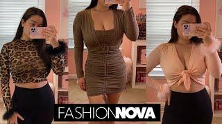 ASMR Fall Try-On Haul (Fashion Nova)