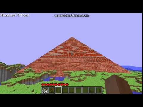 how to make a pyramid in minecraft