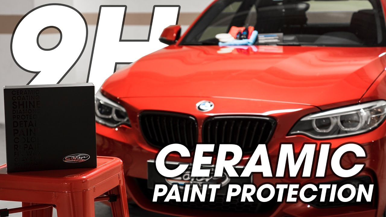 9h car ceramic coating paint protection application - color n