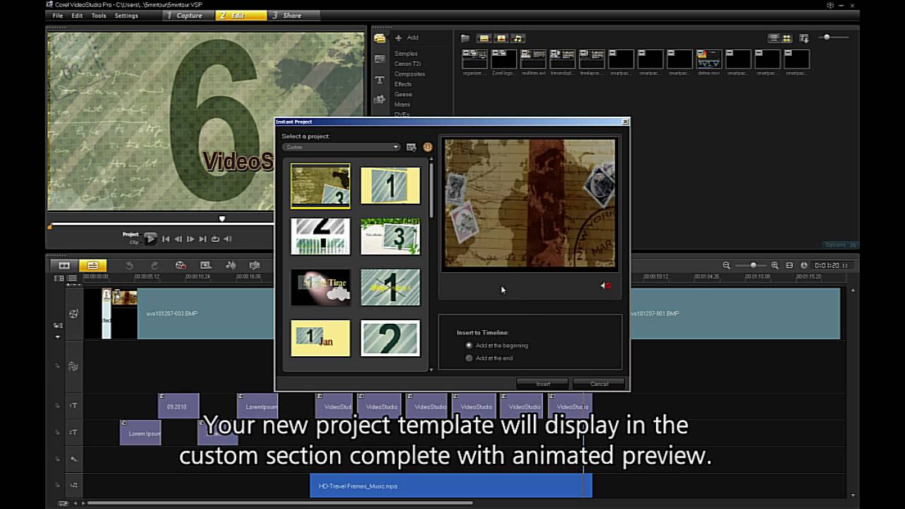 Exporting templates from corel videostudio pro x4 youtube for Free corel video studio templates