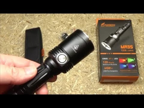 FiTorch MR35 Multi-Color Hunting Flashlight Review 1200LM Red Blue Green