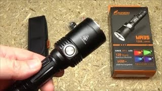 FiTorch MR35 Multi-Color Hunting Flashlight Review 1200LM Red Blue Green screenshot 1