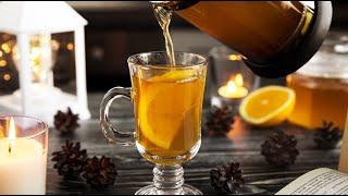 Имбирно-апельсиновый чай // имбирный чай от простуды