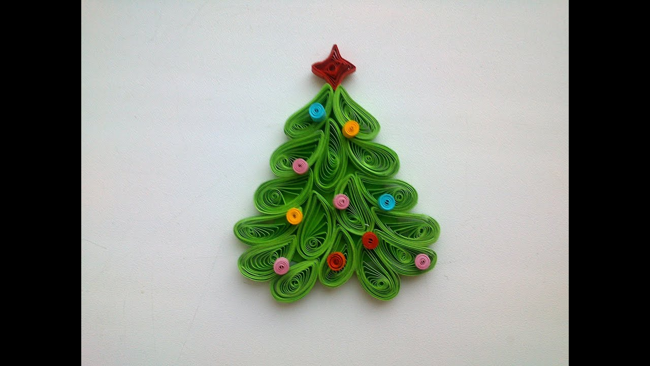 Quilling Christmas Decoration Make Quilling Christmas Tree Magnet