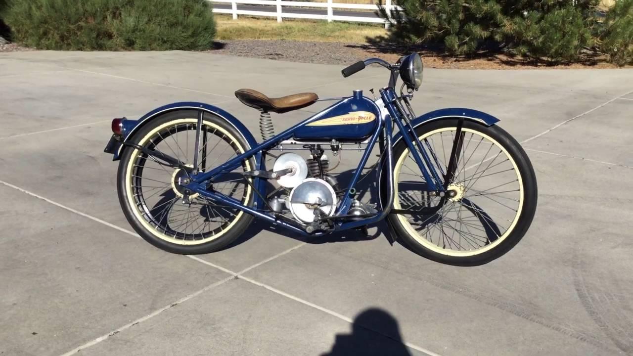 All Original Barn Find 1952 Simplex Servi Cycle 125 Model