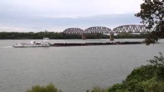 Coal barge on the Ohio River - Henderson/Evansville