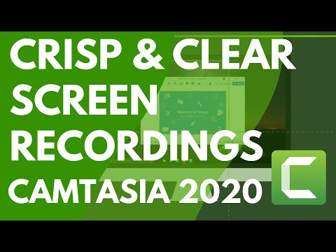 Camtasia: Getting Crisp, Clear Screen Video