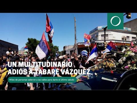 Un multitudinario adiós a Tabaré Vázquez