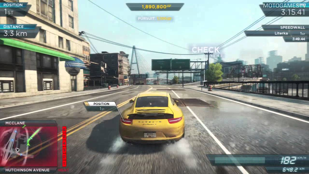 need for speed most wanted 2012 porsche 911 carrera s vs. Black Bedroom Furniture Sets. Home Design Ideas