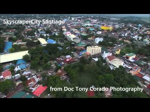 Aerial View Video of Santiago City, Philippines