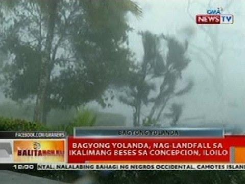 BT: Bagyong Yolanda, nag-landfall sa ika-5 beses sa Concepcion, Iloilo