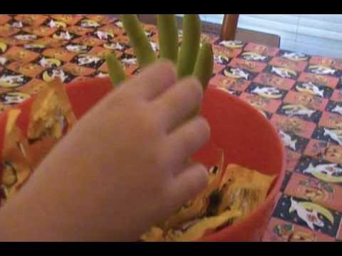 Halloween Bowl With Grabbing Hand