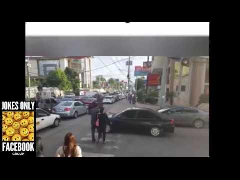 Car Blocking Pedestrian Lane. Watch what Pedestrians did...