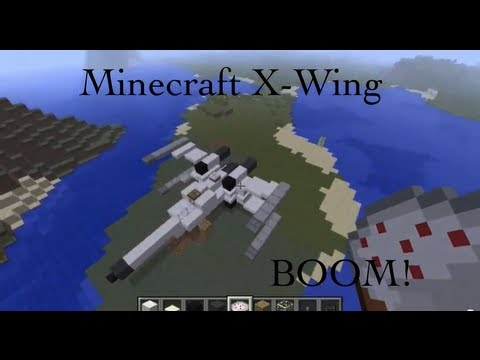 X Wing build in Minecraft and MCEdit - YouTube