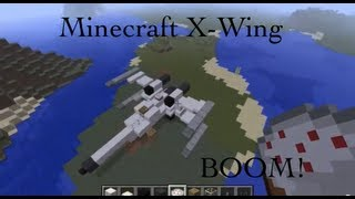 How To Build A Personal X-Wing In Minecraft