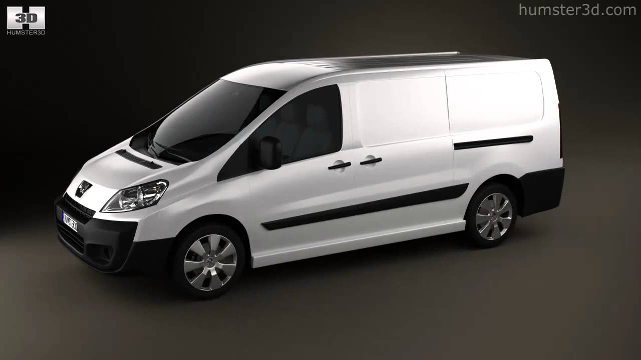 peugeot expert ii panel van l2h1 2011 by 3d model store youtube. Black Bedroom Furniture Sets. Home Design Ideas