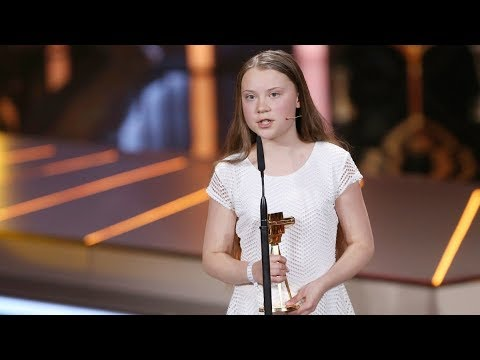 GOLDENE KAMERA award speech of Greta Thunberg