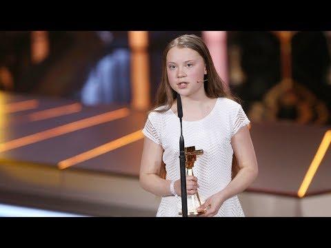 GOLDENE KAMERA award speech of Greta Thunberg