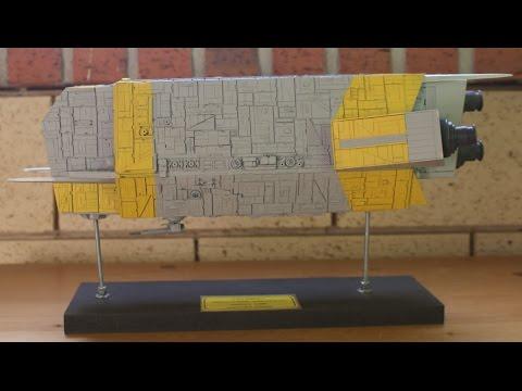 scratch built styrène spaceship