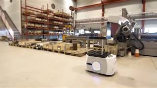#AlexisTheRobot, used as a transport and logistic robot at Aarbakke