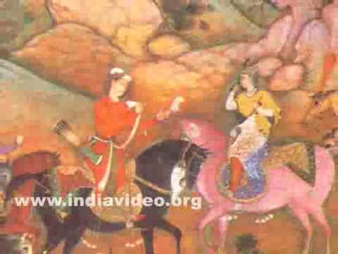 Khusrau and Shirin meet on the hunting grounds
