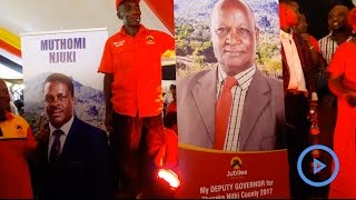 Muthomi Njuki unveils his new running mate as the gubernatorial race for Tharaka Nithi fires up