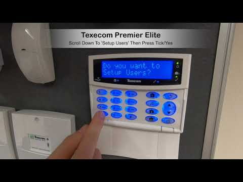 Texecom Premier Elite Add User With Code