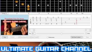 [Guitar Solo Tab] Everytime You Go Away (Paul Young/Hall and Oates)