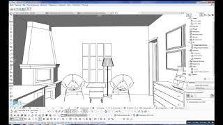 Планировка маленького офиса с камином. Консультация дизайнера онлайн