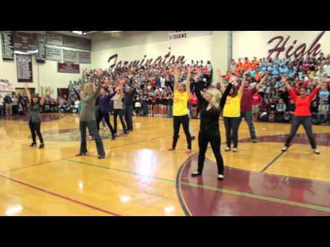 Teachers Dance at the Farmington High School Pep Rally 2012