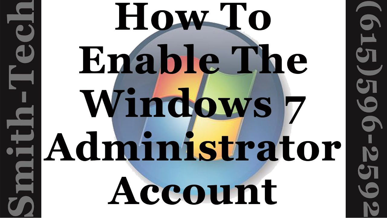 disabled administrator account windows 7