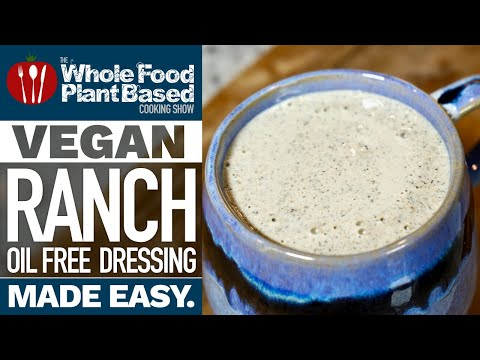 MUST HAVE OIL FREE VEGAN SALAD DRESSING RECIPE  oil free, sugar free, nut free hemp seed ranch