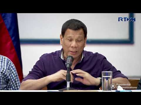 President Rodrigo Roa Duterte's statement during the Situation Briefing in Albay 1/29/2018