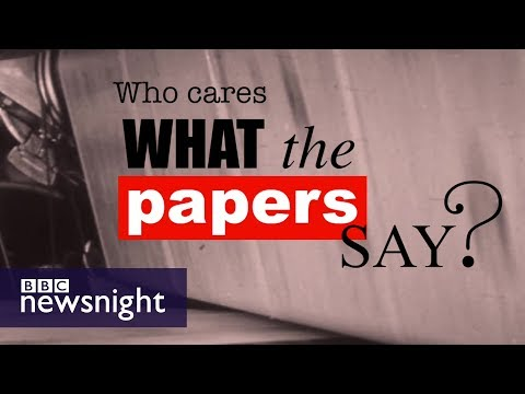 Has the press lost its power? - BBC Newsnight