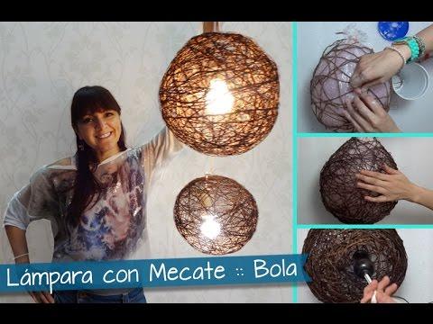 Chuladas creativas lamparas r sticas con mecates - Lamparas y apliques de pared ...