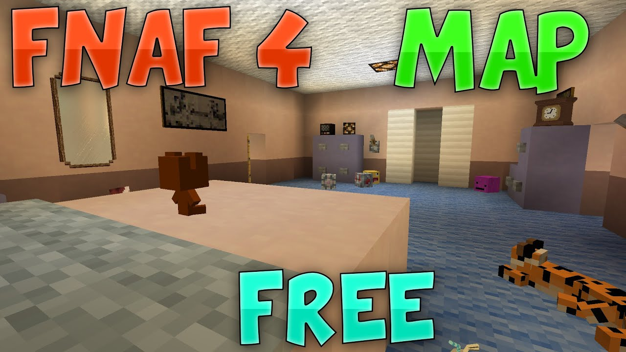 minecraft five nights at freddys 4 map download free youtube